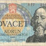 Bancnota Straine, Europa - CEHOSLOVACIA 20 korun / 1986.