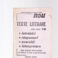 TEXTE LITERARE -PENTRU CLASELE -5 -8 - -