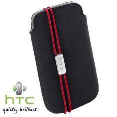 HUSA HTC DESIRE VC ORIGINALA TOC DIN PIELE CULOARE NEAGRA Model PO S800+ PORT CARD INCLUS IN HUSA