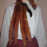 Guler din blana naturala din NURCI ROSCATE / NURCA ROSIE - 3 bucati - Fular Dama