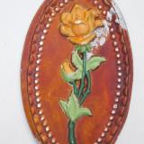 AuX: Draguta aplica veche de perete, model in forma de trandafir, este confectionata din aluminiu turnat si pictat! (2) - Metal/Fonta, Altul