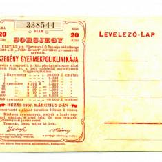 BILET BON DE LOTERIE 20 FILLERI PENTRU SPITALUL DE COPII SARACI DIN TIMISOARA 1 MAI 1906 STARE EXCELENTA - Bilet Loterie Numismatica