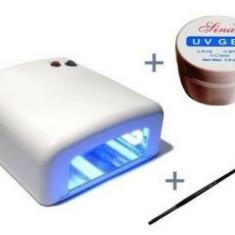 Unghii false - Lampa unghii gel kit set manichiura
