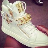 Sneakers - Ghete dama, Marime: 37, Culoare: Alb, Alb