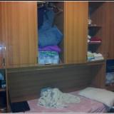 Vand Dormitor cu pat rabatabil adus din Italia. - Pat dormitor, Dublu, Cu arcada inclinata, Nuc, Pat de mijloc