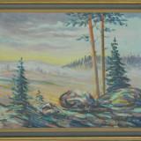 Tablou / pictura ULEI pe CARTON '48
