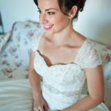 Rochie Mireasa , model unic , superba, purtata doar o singura data