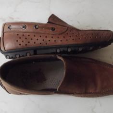 Pantofi de piele Rieker nr. 41 - Pantofi barbati Rieker, Culoare: Maro
