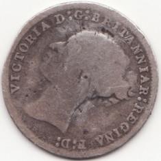 Moneda - Regatul Unit al Marii Britanii si Irlandei - 3 Pence 1879 - Victoria - primul portret - monede Maundy - argint