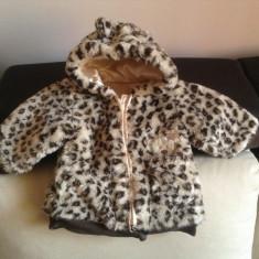 Geaca/Blanita leopard fetite ff frumoasa si calduroasa 6 luni - 1 an George, Culoare: Bej