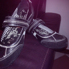 Pantofi fete (HUMANIC) - Ghete copii, Marime: 34, Culoare: Negru