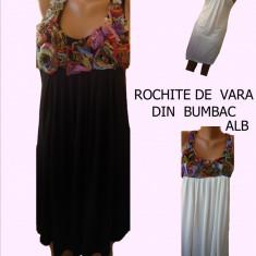 ROCHII DE VARA, MATERIAL BUMBAC, LIVRARE GRATUITA - Rochie de zi, 3/4, Cu bretele
