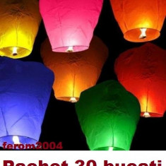 Lampion, Lampioane Zburatoare - Pachet de 30 lampioane zburatoare colorate