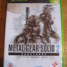 Jocuri Xbox Altele, Actiune, 16+, Single player - JOC XBOX clasic METAL GEAR SOLID 2 SUBSTANCE ORIGINAL PAL / STOC REAL / by DARK WADDER