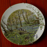 Farfurie deosebita portelan fin de colectie - The Woodlands in April by Peter Banett - Royal Worcester Porcelain - Made in England 1979 !!!