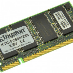 Memorie RAM laptop Kingston, DDR, 256 MB - Memorie laptop 256MB DDR1 266 MHz (PC2100) Kingston KTC-P2800/256, SODIMM 200 pini