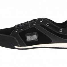 Pantofi sport Guess Leon piele 42 42, 5 43 44 - Adidasi barbati Guess, Culoare: Negru