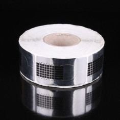 Ustensile - Rola 500 de sabloane argintii pt constructie unghii false, manichiura tipsuri