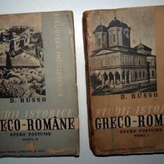 Carte veche - LOT 2 CARTI - STUDII ISTORICE GRECO ROMANE - D RUSSO