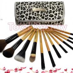 Pensula make-up - Trusa 12 pensule machiaj profesionale Fraulein38 Germania Animal Print Jaguar