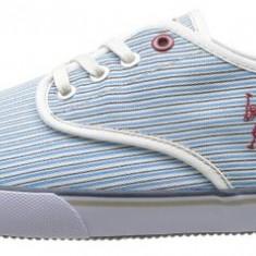 Adidasi US Polo Assn Hugh originali - tenisi barbati - adidasi originali - panza - in cutie - 44, Culoare: Bleu, Textil