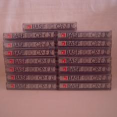 Vand lot 19 casete audio BASF CR-E-II-90 min, originale, raritate!