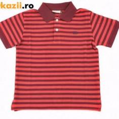 Haine Copii 10 - 12 ani, Tricouri, Baieti - Nou! Tricou rosu cu guler, dungat, marca Bonaparte, baieti 10 ani