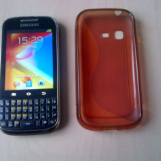 Telefon Samsung, Albastru, 4GB, Neblocat, Single core, 512 MB - Samsung Galaxy Chat