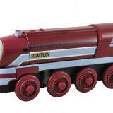 Wooden Thomas - CAITLIN locomotiva din lemn cu magnet - ( transport 3 RON la plata in avans ) - NOU