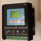 Regulator/Controller Solar Fotovoltaic + Eolian, Hibrid, 24V-400W+800W Eolian