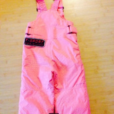 Salopeta ski fete Columbia, Culoare: Roz, Roz