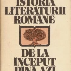 Studiu literar - Istoria literaturii romane de la inceput pina azi - Al.Piru