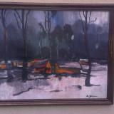 Tablou NICOLAE STOICA - Expertizat - Autentic - Pictor roman, Peisaje, Ulei, Impresionism