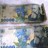 10000 lei anul 1999 (doua bancnote) / Bancnote romanesti 10000 lei, An: 1999