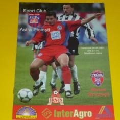 Program meci fotbal - SC ASTRA PLOIESTI - STEAUA Bucuresti 06.05.2001