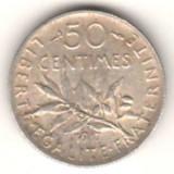 Moneda Medievala, Europa, An: 1917 - SV * Franta 50 CENTIMES 1917, 2.5 grame ARGINT .900