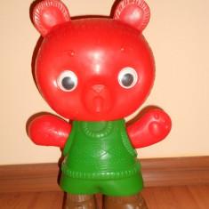 Figurina Desene animate - Ursulet de plastic.Dimensiune mare - 32cm. Papusa ruseasca veche, Anii 80