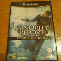 JOC GAMECUBE MINORITY REPORT EVERYBODY RUNS ORIGINAL / STOC REAL in Bucuresti / by DARK WADDER Ea Games, Actiune, 16+, Single player