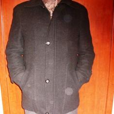 PALTON PENTRU BARBATI, MODA ALISS. - Palton barbati, Marime: 46, Culoare: Negru, Bumbac, Negru