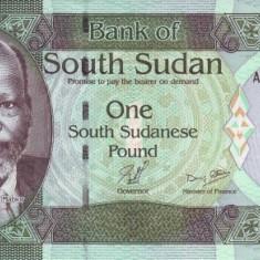 Sudanul de Sud 1 Pound (nedatata; circa 2011) P-5 UNC !!!