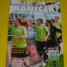 Program meci fotbal FK SIAD MOST - SK KLADNO - 2007 (echipe din Cehia)