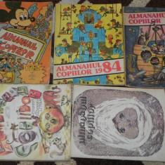 LOT 7 almanahuri ALMANAHUL COPIILOR 1979, 1982, 1983, 1984, 1985, 1986, 1987 - Carte educativa