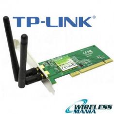 Placa Wireless retea pt PC-desktop TP-LINK TL-WN851ND 300M - PCI ! 2x2 MIMO - Placa de retea Tp-link, Intern
