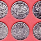 Monede Romania - 10 SETURI COMPLETE DE 3 MONEDE COMEMORATIVE 10 lei-fao 1995-1996-diferite