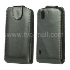 Husa Telefon LG, Negru, Piele Ecologica, Cu clapeta, Toc - Husa toc LG Optimus Black p970 husa neagra piele ecologica