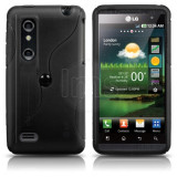 Husa silicon LG Optimus 3D 4G P920 P925 + folie ecran + expediere gratuita - sell by PHONICA