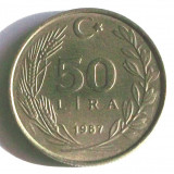 G2. TURCIA 50 LIRA 1987, 9.00 g., Copper-Nickel-Zinc, 26.8 mm AUNC **, Europa