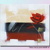 Tablou cu trandafir - I love you - 60x50cm LIVRARE GRATUITA 24-48h
