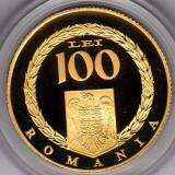 Monede Romania - BNR 100 lei 2008 aur, 6, 45 grame, Publius Ovidius Naso, ConstantaTIRAJ 250 bucati
