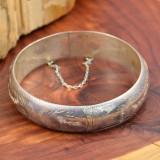 Vintage Sterling Silver (925) - Bratara exquisite, gravata, Bangle!!!